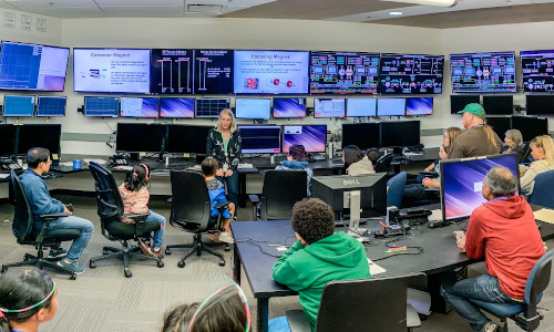 The Accelerator Control Room during SLAC's 2019 Community Day.